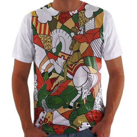 bec8bea63 Camisa Personalizada Mosaico São Jorge - camisa Personalizada Blusa ...