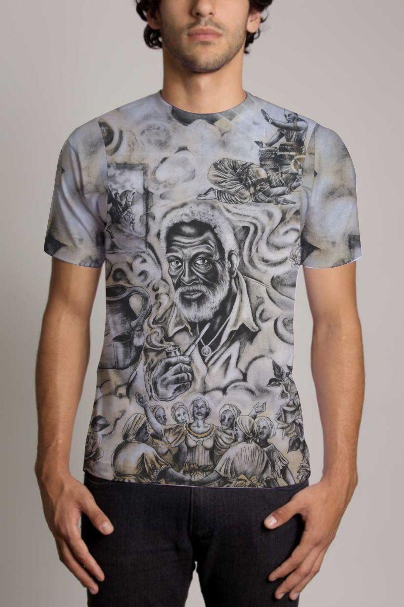 9580805f31 Camisa Personalizada Preto Velho - Camisa orixás demonstre sua fé