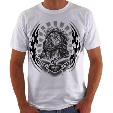 c2417eaa3c Camisa Personalizada Sagrado Coração de Jesus - camisa Personalizada ...