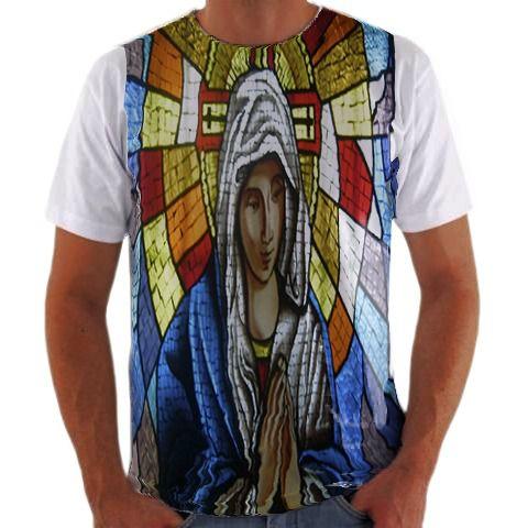 b19df9fa56 Camisa Personalizada Vitral religioso - camisa Personalizada Blusa ...