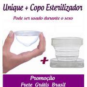 Coletor Menstrual Unique 60ml + Copo Esterilizador