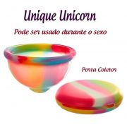 Coletor Menstrual UNIQUE Unicorn 60ml. + Porta Coletor
