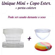 Kit: Coletor Menstrual UNIQUE MINI 30ml + Copo Esterilizador + Saquinho de Tecido
