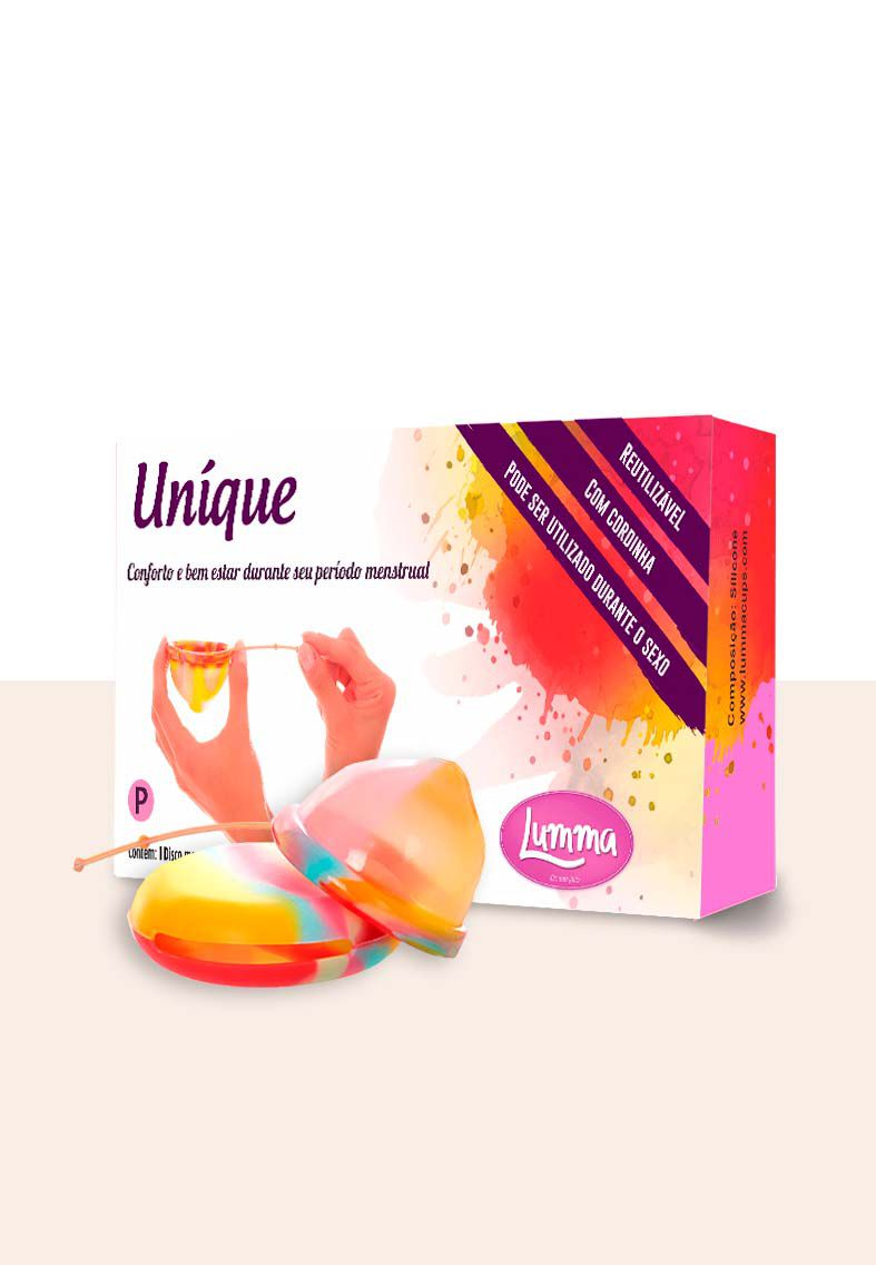 Disco Menstrual UNIQUE M Unicorn 55ml + Porta Coletor