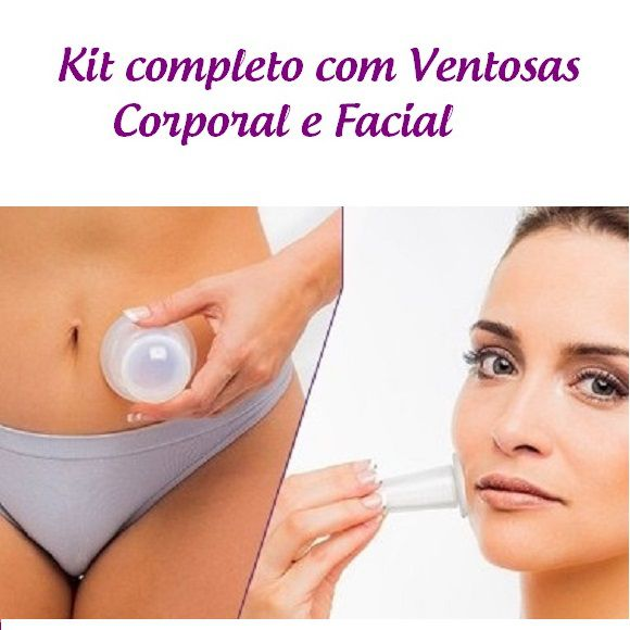 Kit Ventosas para massagem Corporal e Facial