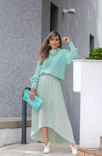 Blusa Katy Patena Tricot Fang Pontão Is Verde