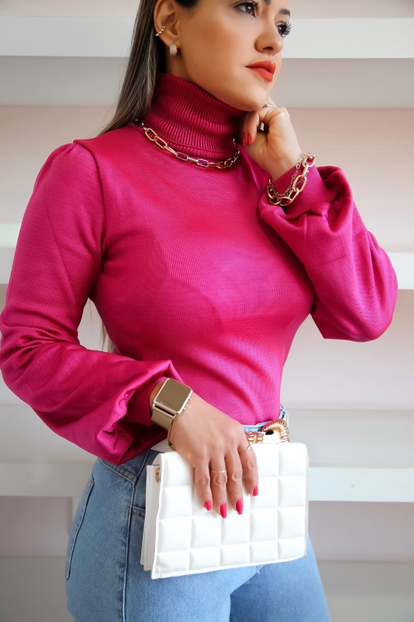 Cacharrel Elisa Patena Tricot Bufante Rayon Gb Pink
