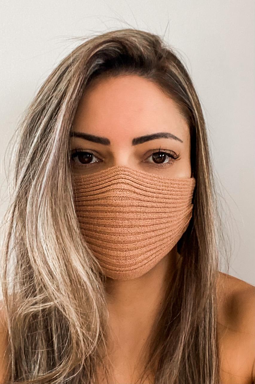 Máscara Tricô Patena Tricot Ak Modal Avelã