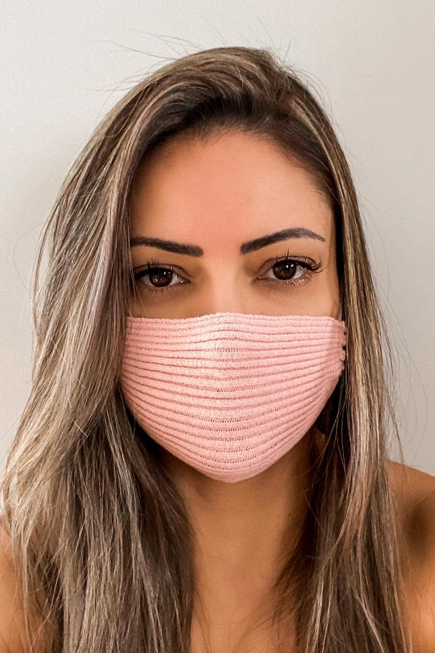 Máscara Tricô Patena Tricot Ak Modal Rosê