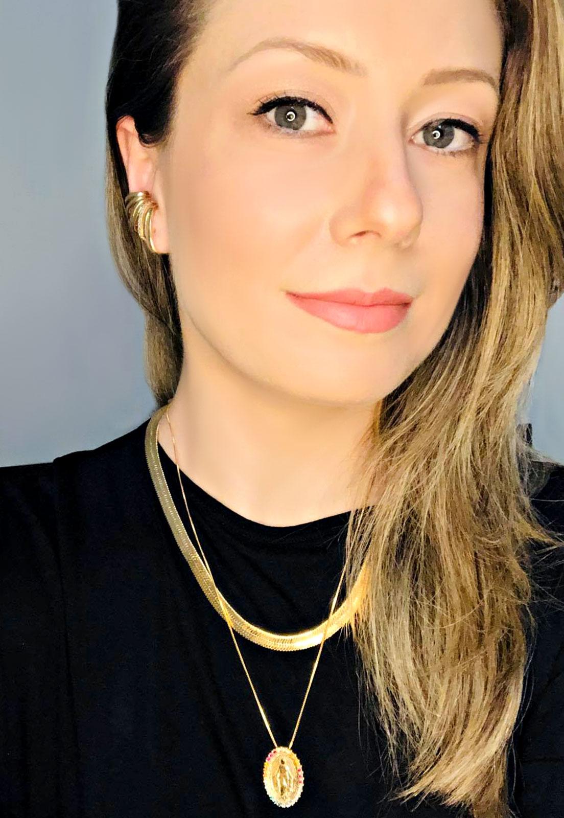 BRINCO EAR CUFF ENCAIXE COM ZIRCÔNIA BANHADO A OURO
