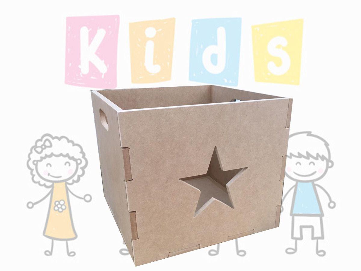 Caixote Organizador De Brinquedos Em Mdf