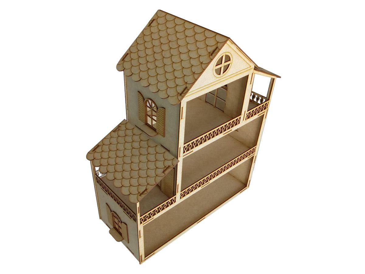 Casa de Boneca em Mdf Cru 60 cm