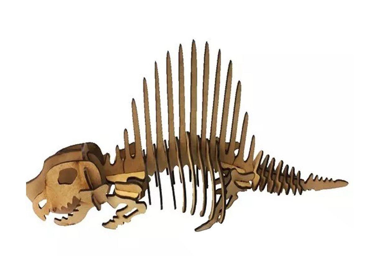 Dinossauro Dimetrodon em Mdf Cru