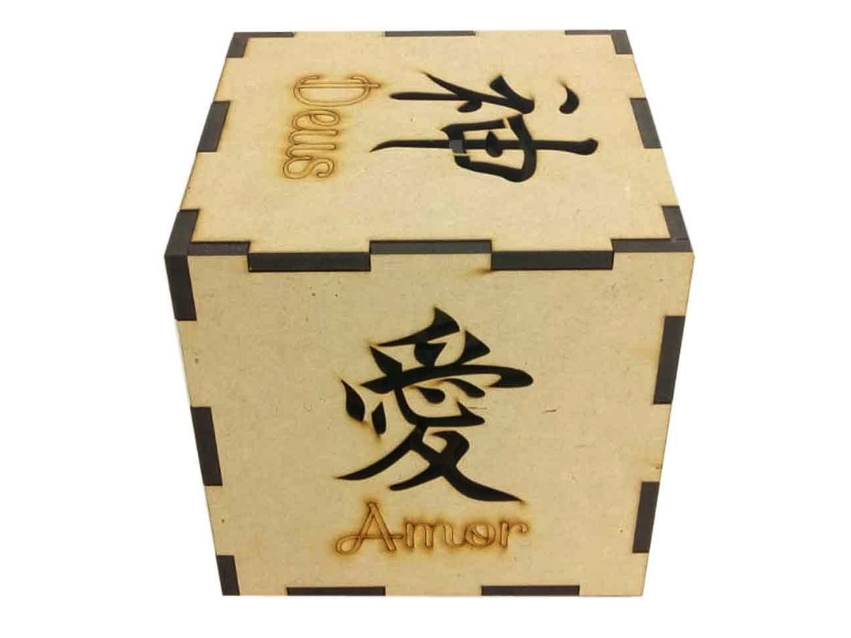 Luminária De Mesa Letras Japonesas