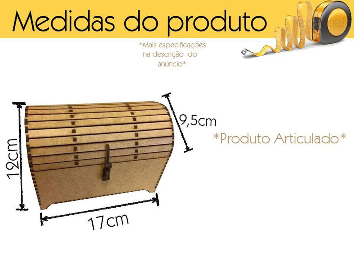 Mini Bau Feito De Madeira