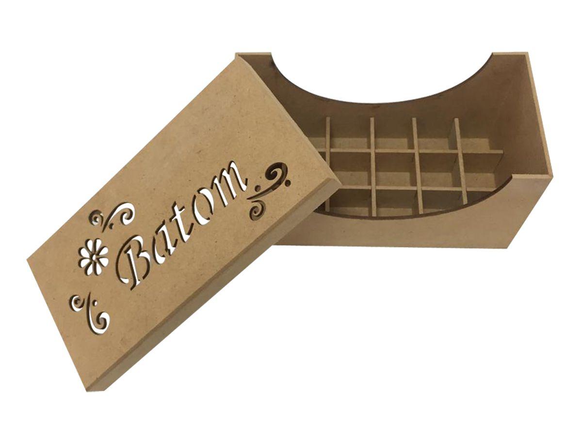 Porta Batom Caixa em Mdf