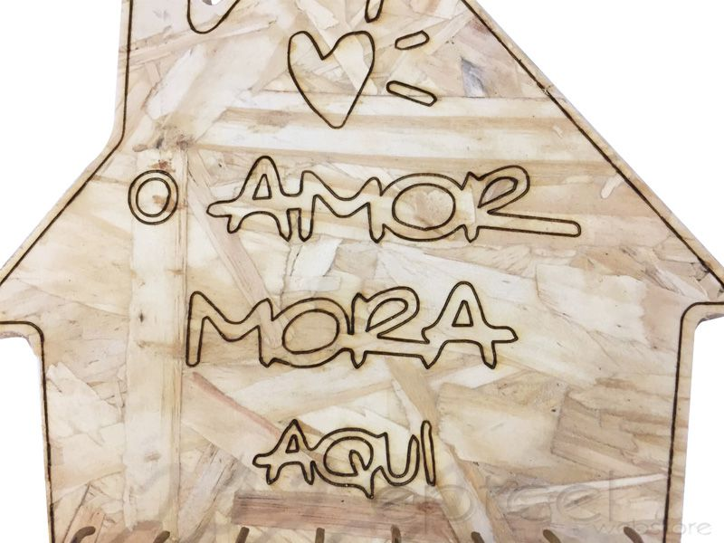 Porta Chave Chaveiro O Amor Mora Aqui Retrô Decoração