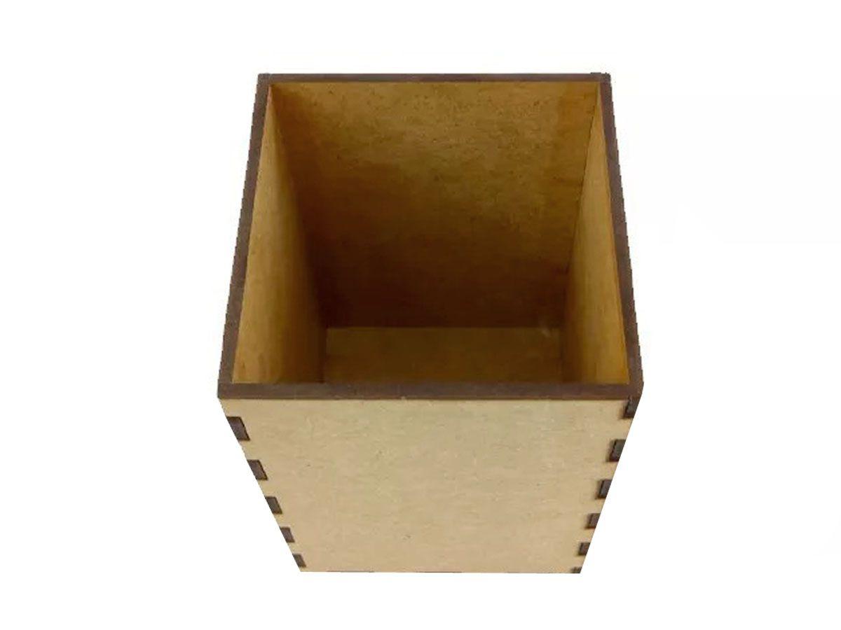 Porta Lápis E Porta Treco Escritório Mdf Organizador