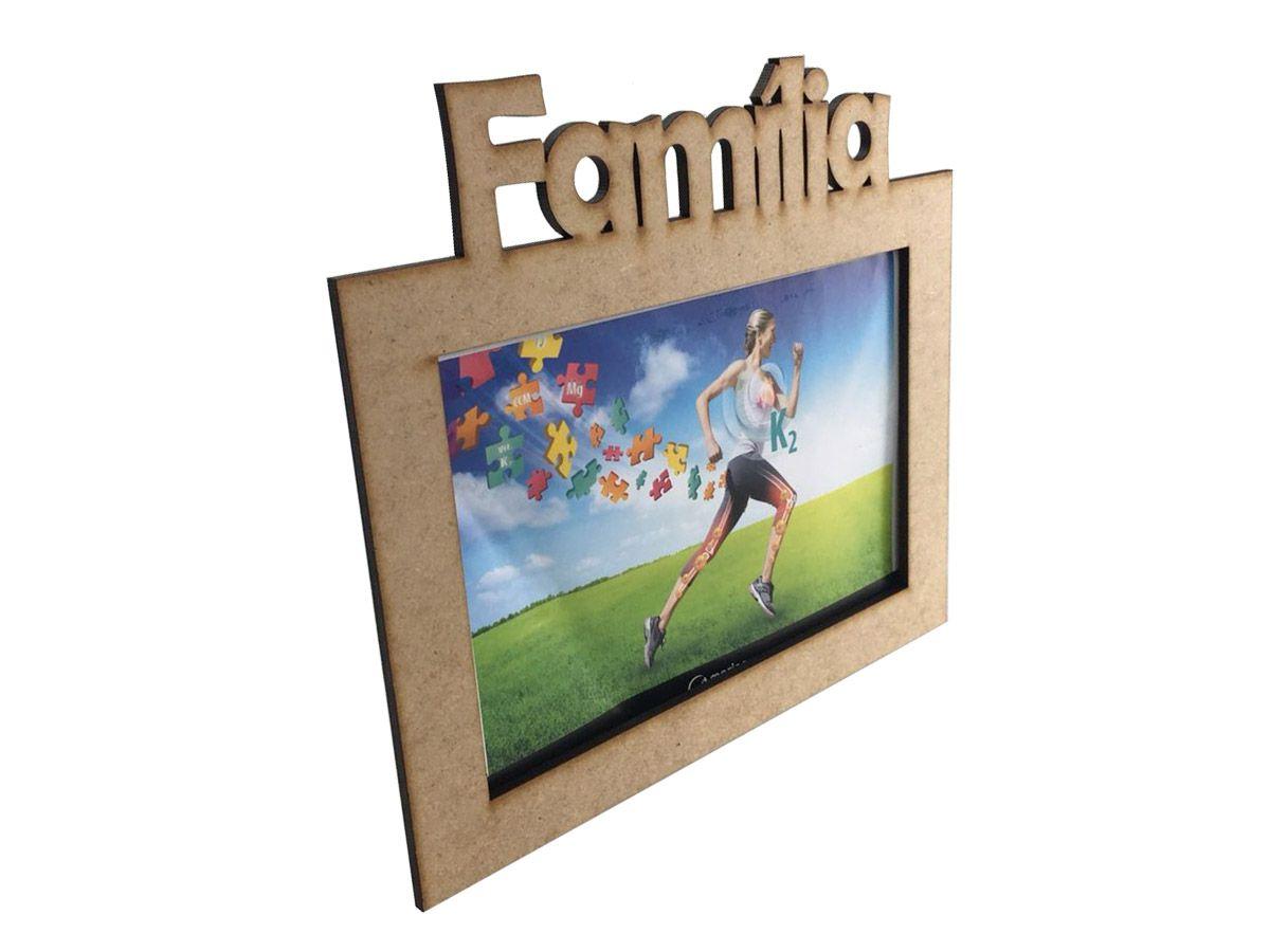 Porta Retrato Família Mdf 10x15 Kit 10 Unidades