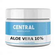 Aloe Vera 10% - Creme 100G -  Cicatrizante,  Tonificante,  Antiinflamatória, Refrescante, Protetora e Restauradora de Tecidos, Bom para Queimaduras