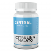 Citrulina Malato 500mg - 60 Cápsulas - Ganho de massa muscular, Melhor desempenho esportivo, físico e mental, Aumenta a força e resistência