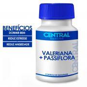 Composto Calmante Valeriana 100mg + Passiflora 200mg 90 cápsulas