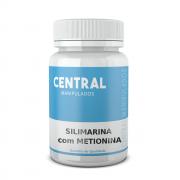 Silimarina 200mg + Metionina 120mg - 120 Cápsulas - Protetor do Fígado