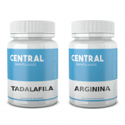 Tadalafila 15mg 120 Cápsulas + Arginina 500mg 120 Cápsulas - Vasodilatador