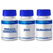 KIT  Tribulus + ZMA + Silimarina 60 cápsulas