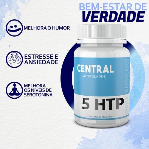 5 HTP 100mg - 120 cápsulas - Auxílio no Tratamento da Ansiedade