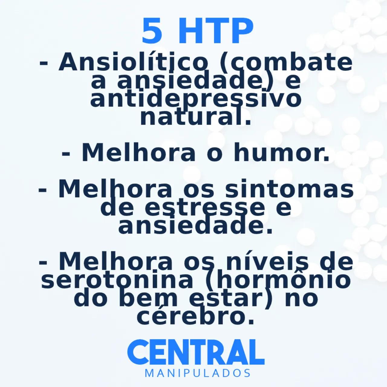 5 HTP 50mg - 120 cápsulas - Auxílio no Tratamento da Ansiedade