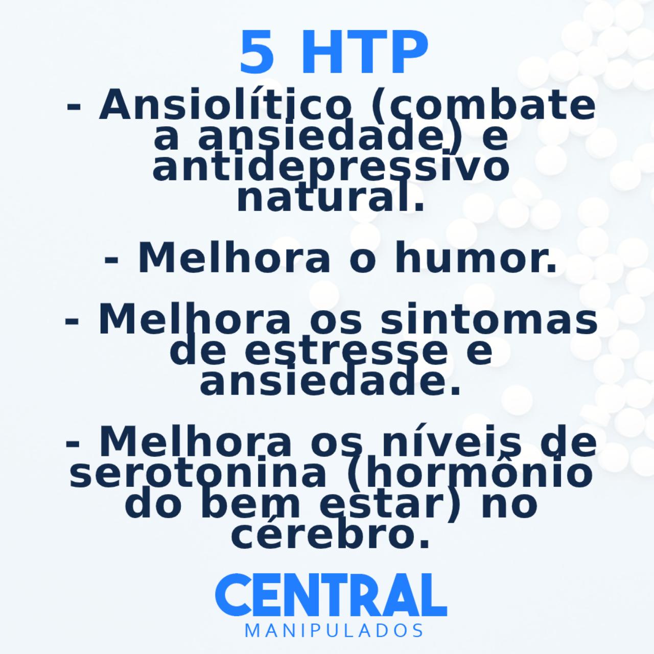 5 HTP 50mg - 60 cápsulas - Auxílio no Tratamento da Ansiedade