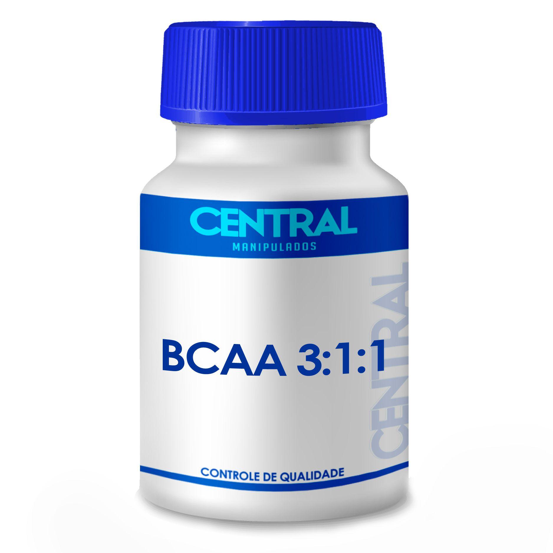 BCAA 600mg - ganho de massa muscular - 120 cápsulas