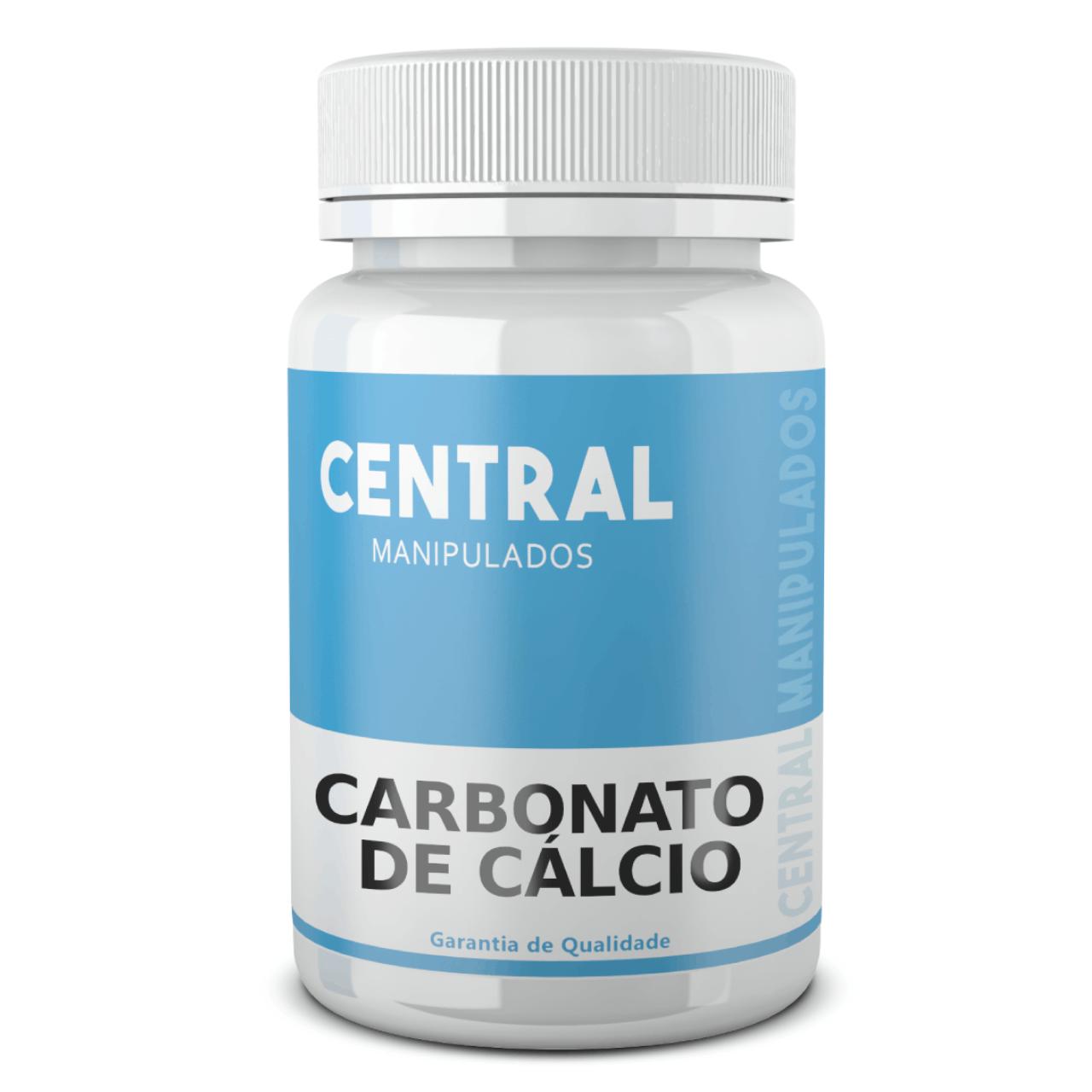 Carbonato de Cálcio 600mg - 60 cápsulas - Suplemento de Cálcio
