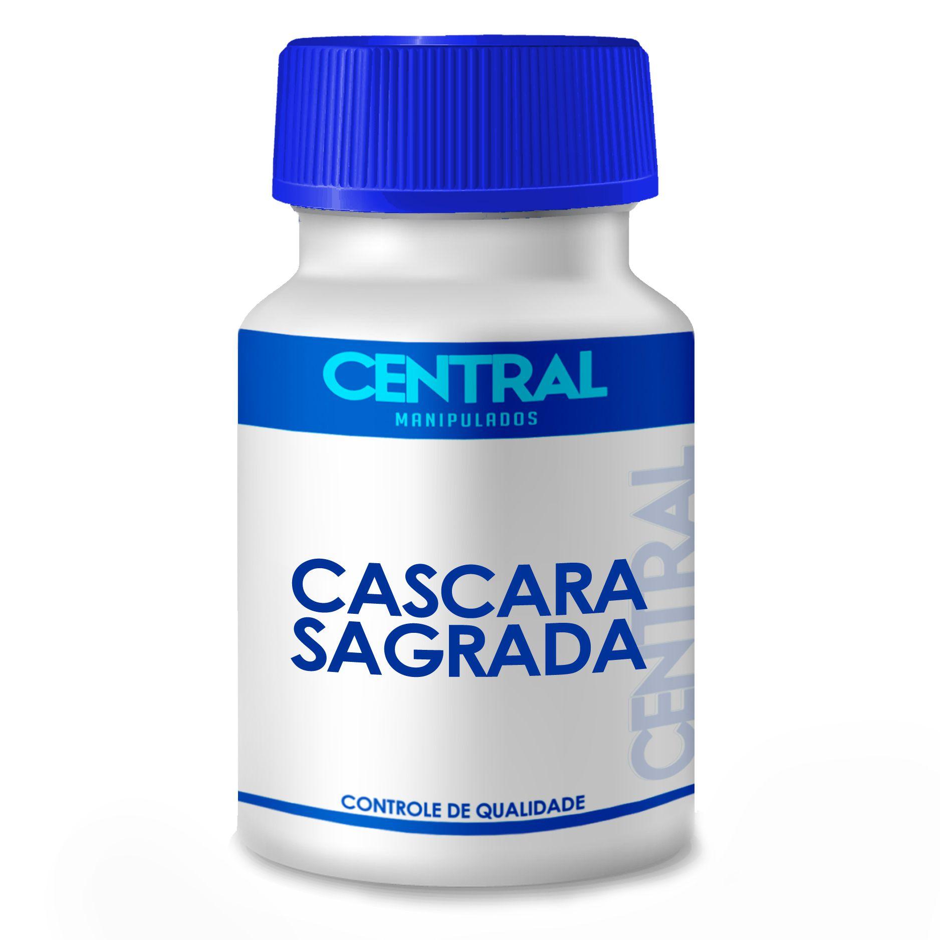 Cascara Sagrada - Melhora o funcionamento intestinal - 75mg 60 cápsulas