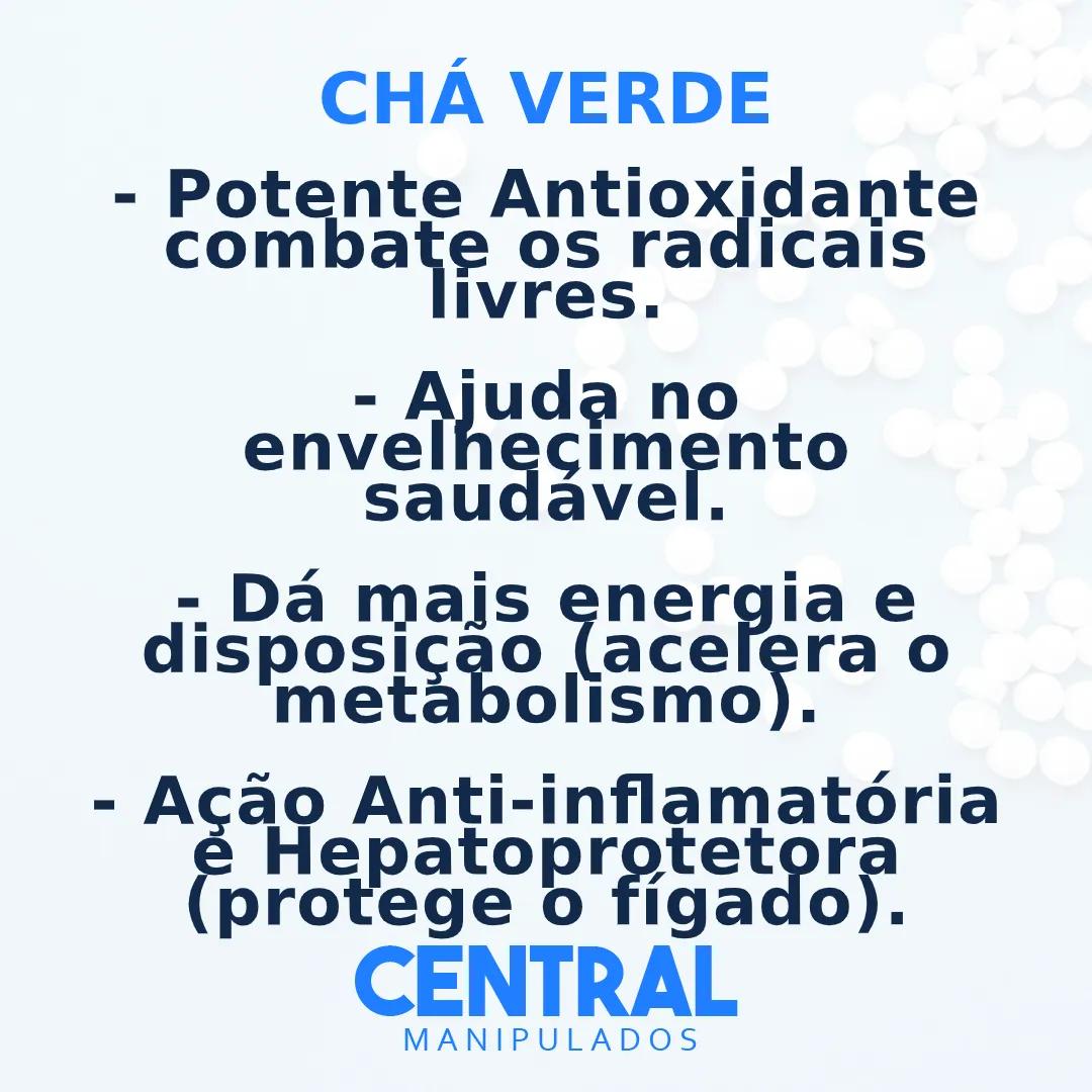 Chá verde 500mg - 120 cápsulas - Antioxidante, Antiinflamatória, Acelerador do Metabolismo