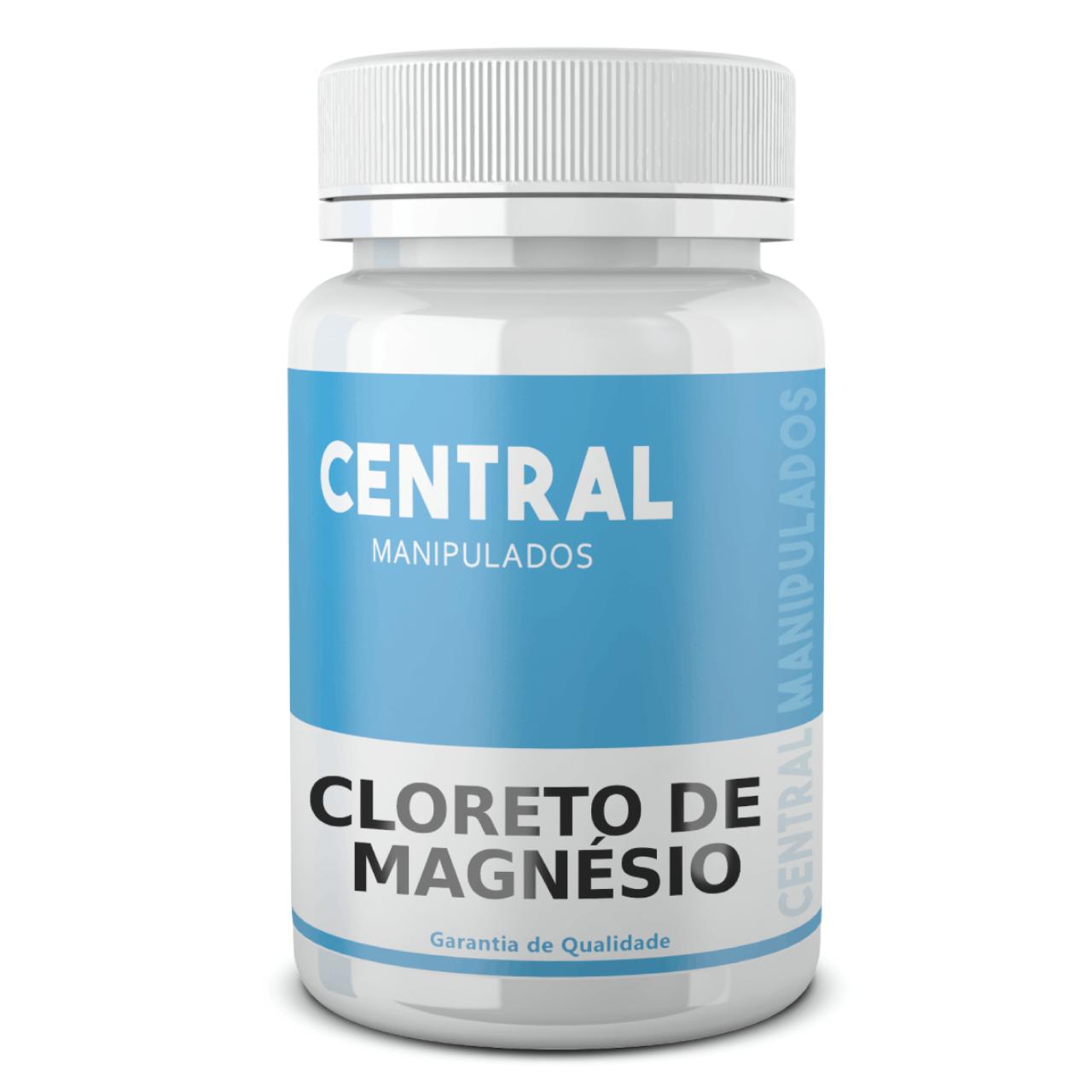 Cloreto de Magnésio 500mg - 60 Cápsulas - Previne a hipertensão, cálculos renais e doenças cardíacas