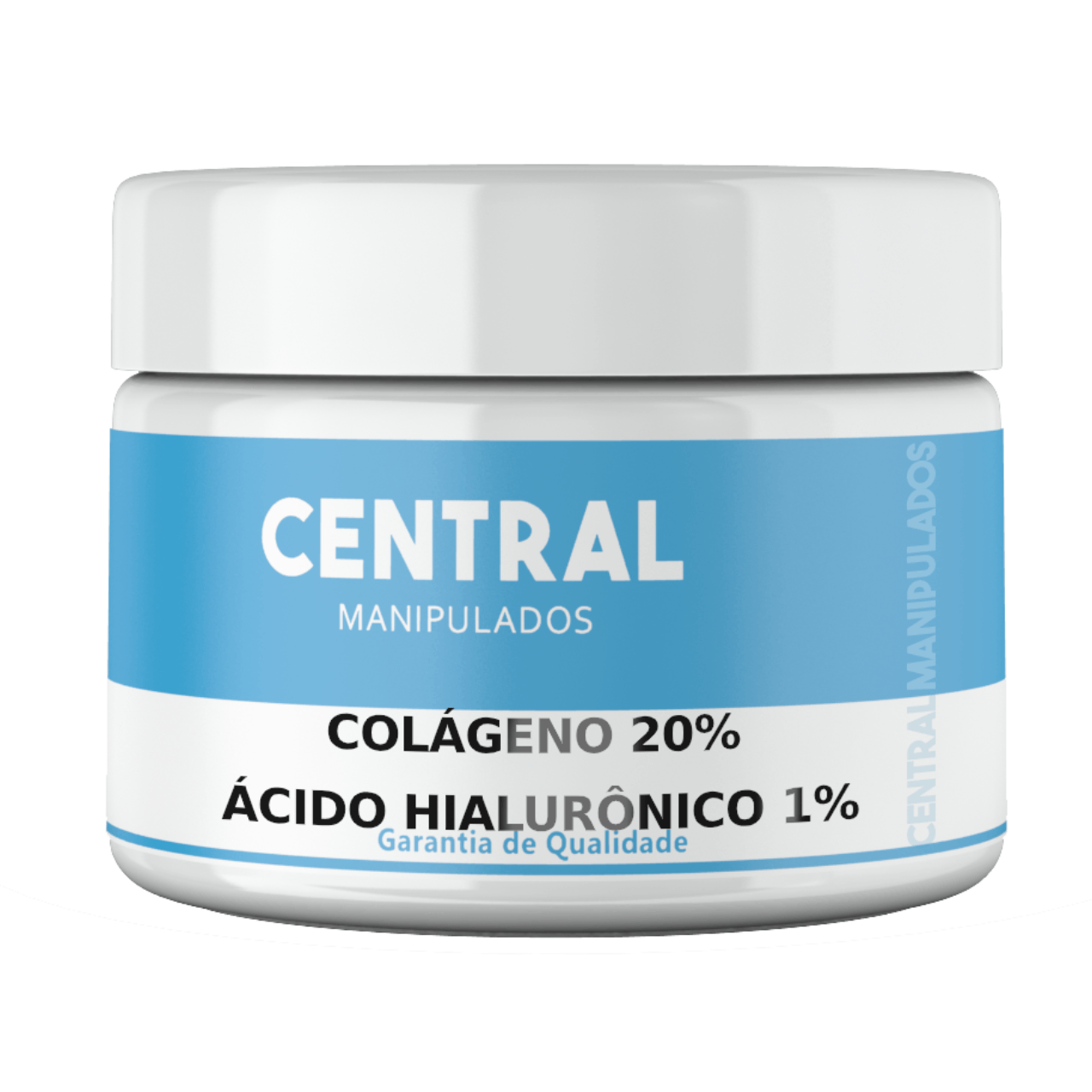 Colágeno 20% + Ácido Hialurônico 1% - Creme 100gramas - Previne e trata a flacidez, Evita rugas e linhas de expressões