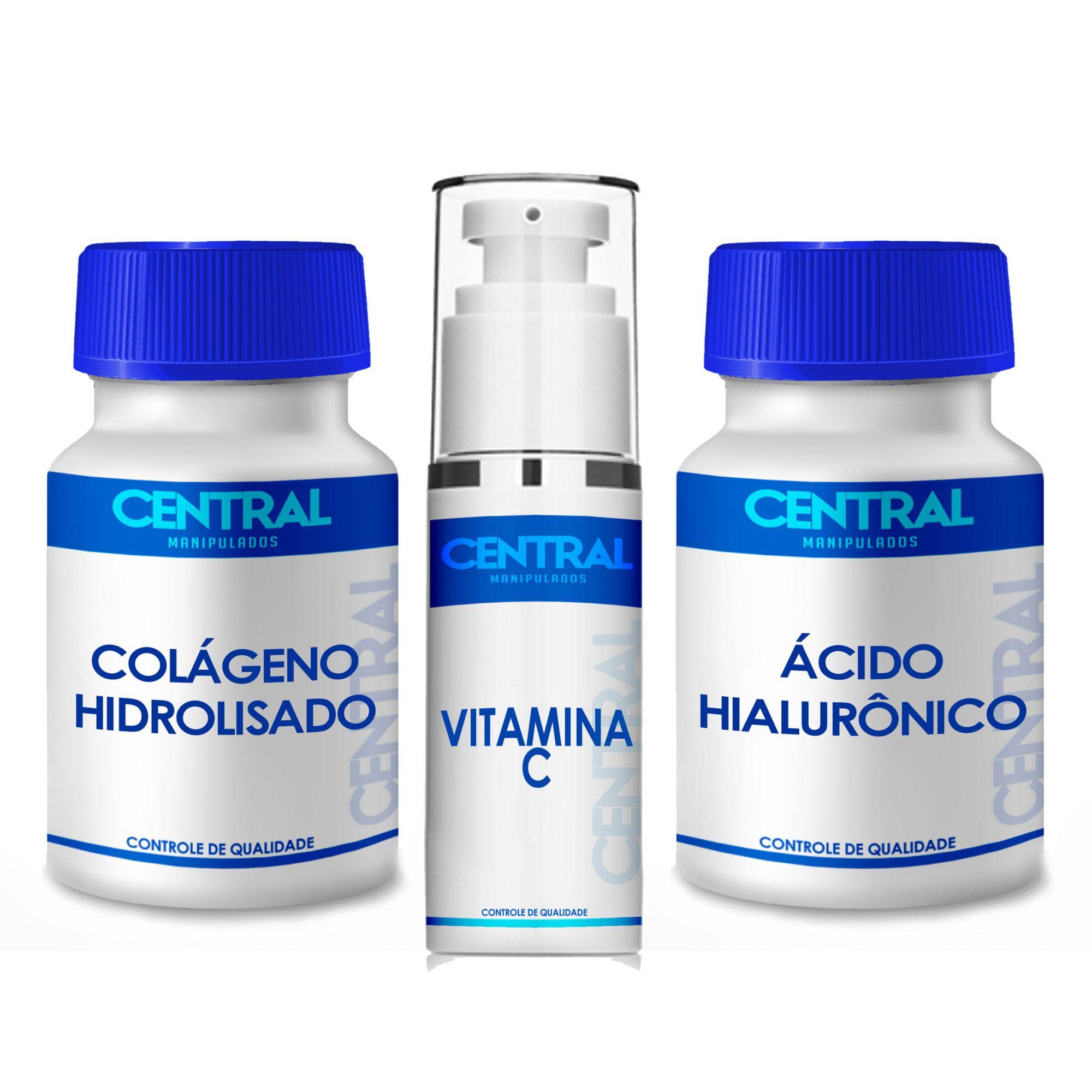 Colágeno Hidrolisado + Ác.Hialurônico + Sérum Vit.C