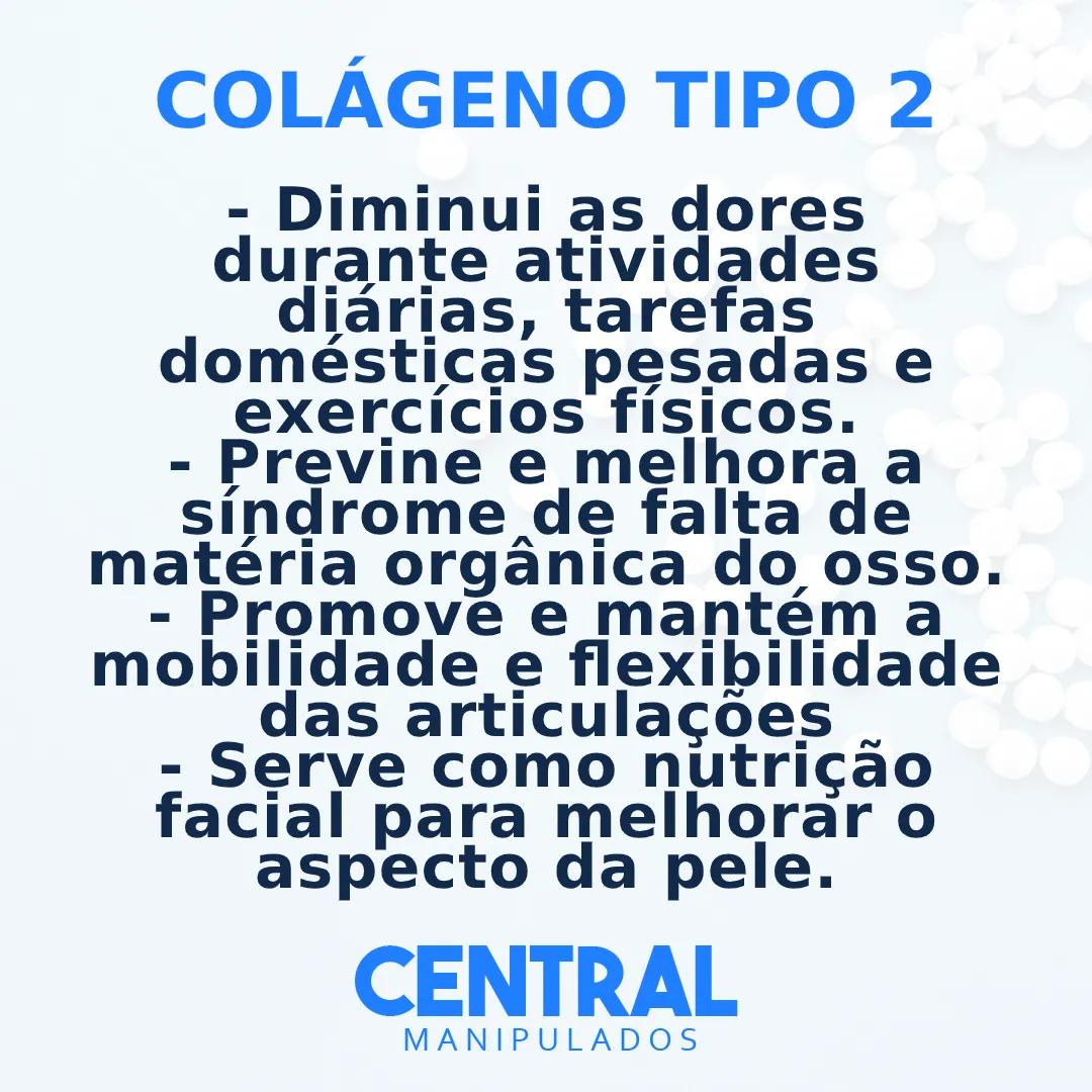 Colágeno Tipo 2 40MG - 120 cápsulas - Dores Articulares, Ósseas e das Cartilagens