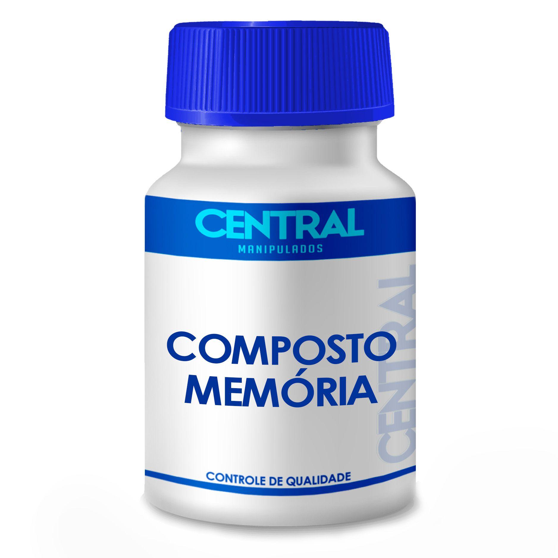 Composto Memória Inositol 250mg + Colina 250mg 180 cápsulas