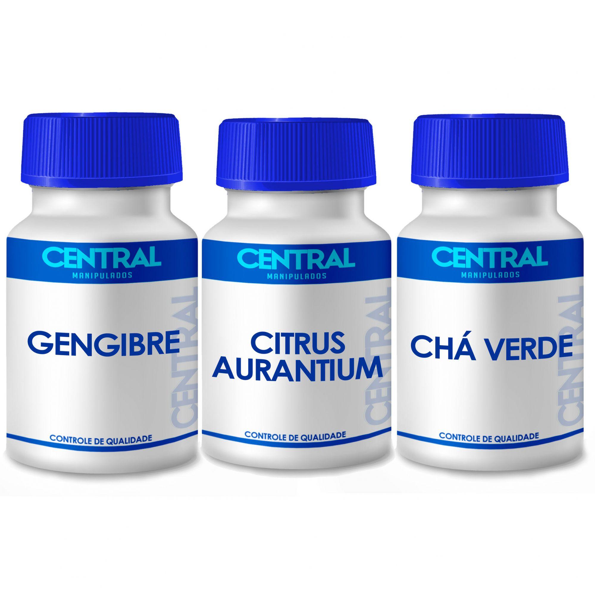 Gengibre + Citrus Aurantium + Chá verde