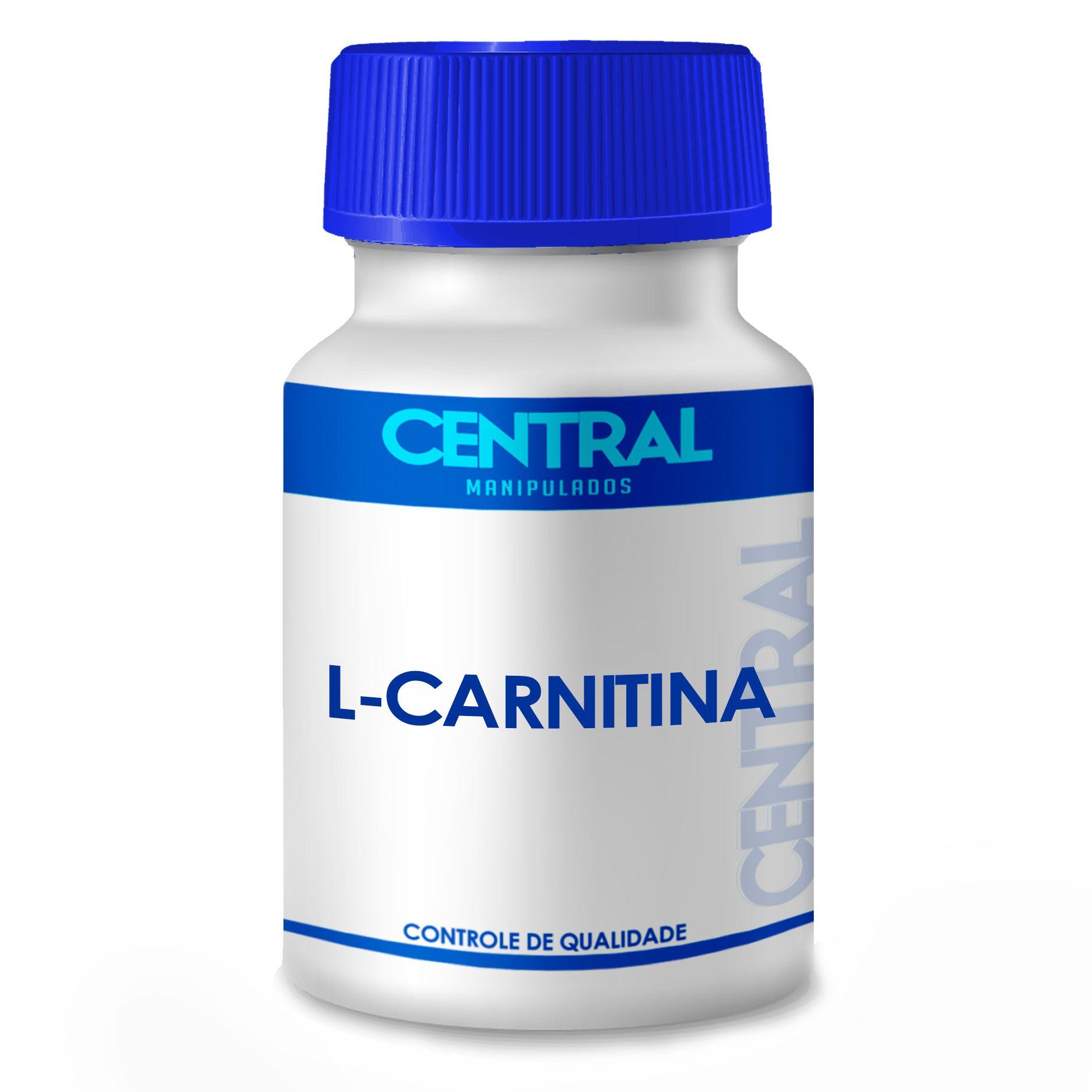 L Carnitina - transformação de gordura em energia - 500mg Central 30 cápsulas