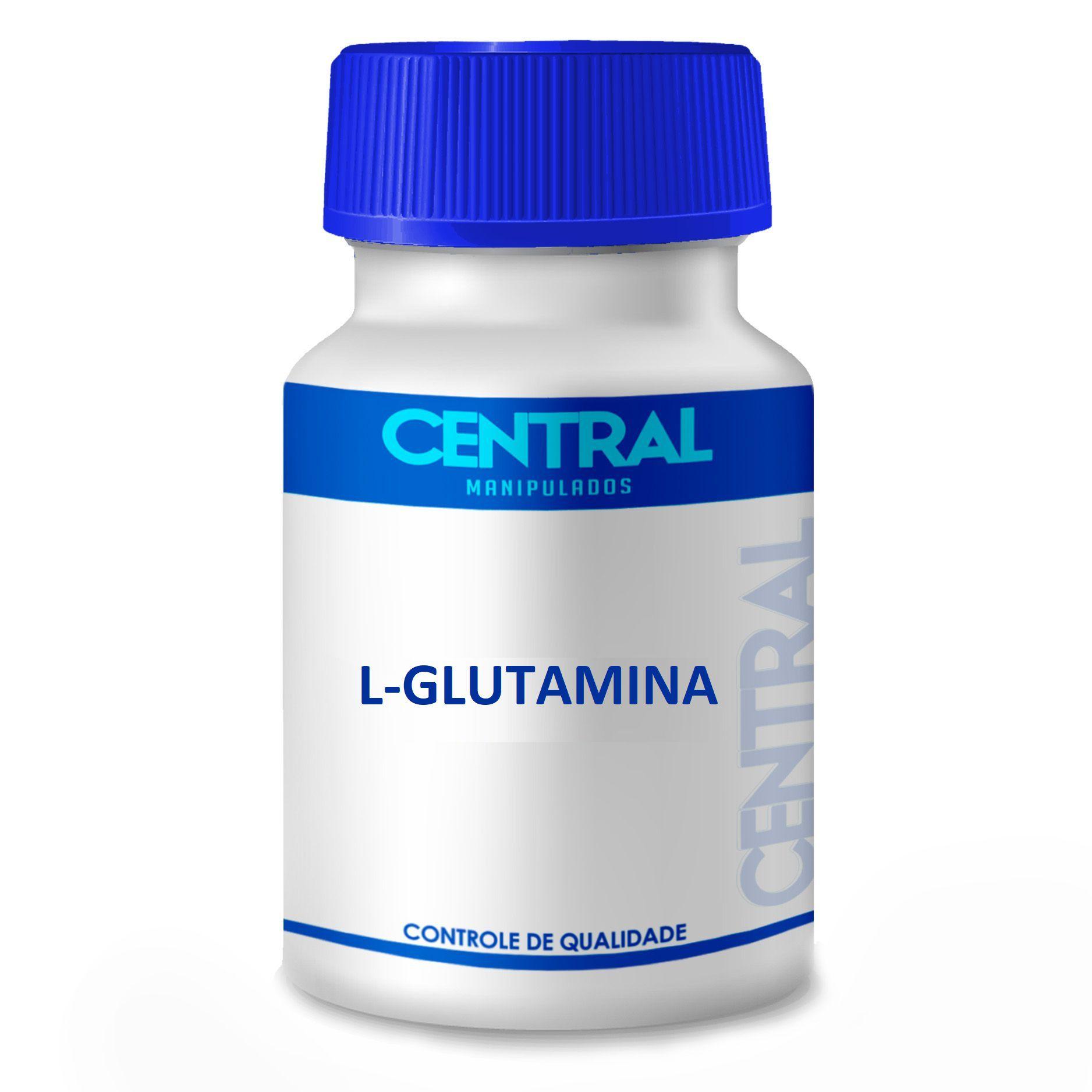L-glutamina - Ganho de Massa Muscular - 500mg 60 cápsulas