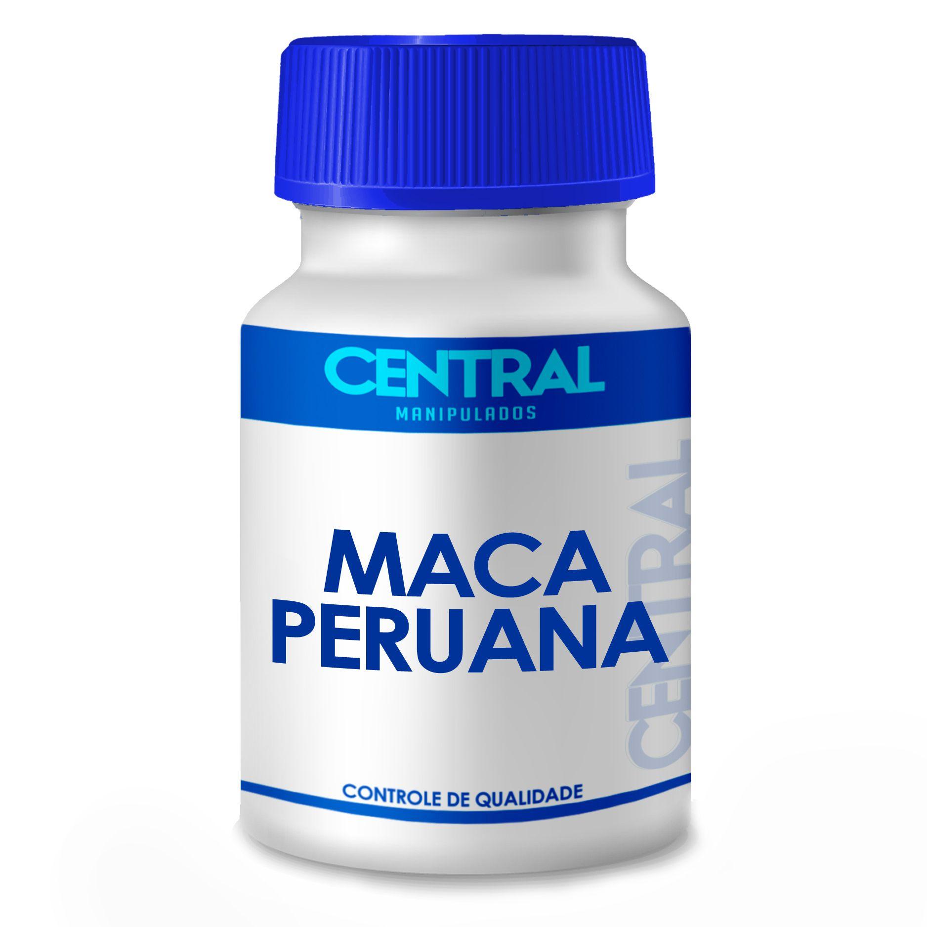 Maca peruana - energético e aumento da libido sexual - 500mg 180 cápsulas