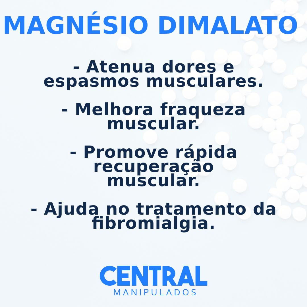 Magnésio dimalato 300mg - 120 cápsulas - Melhora fraqueza muscular, dores e espasmos, rápida recuperação muscular, Coadjuvante na fibromialgia