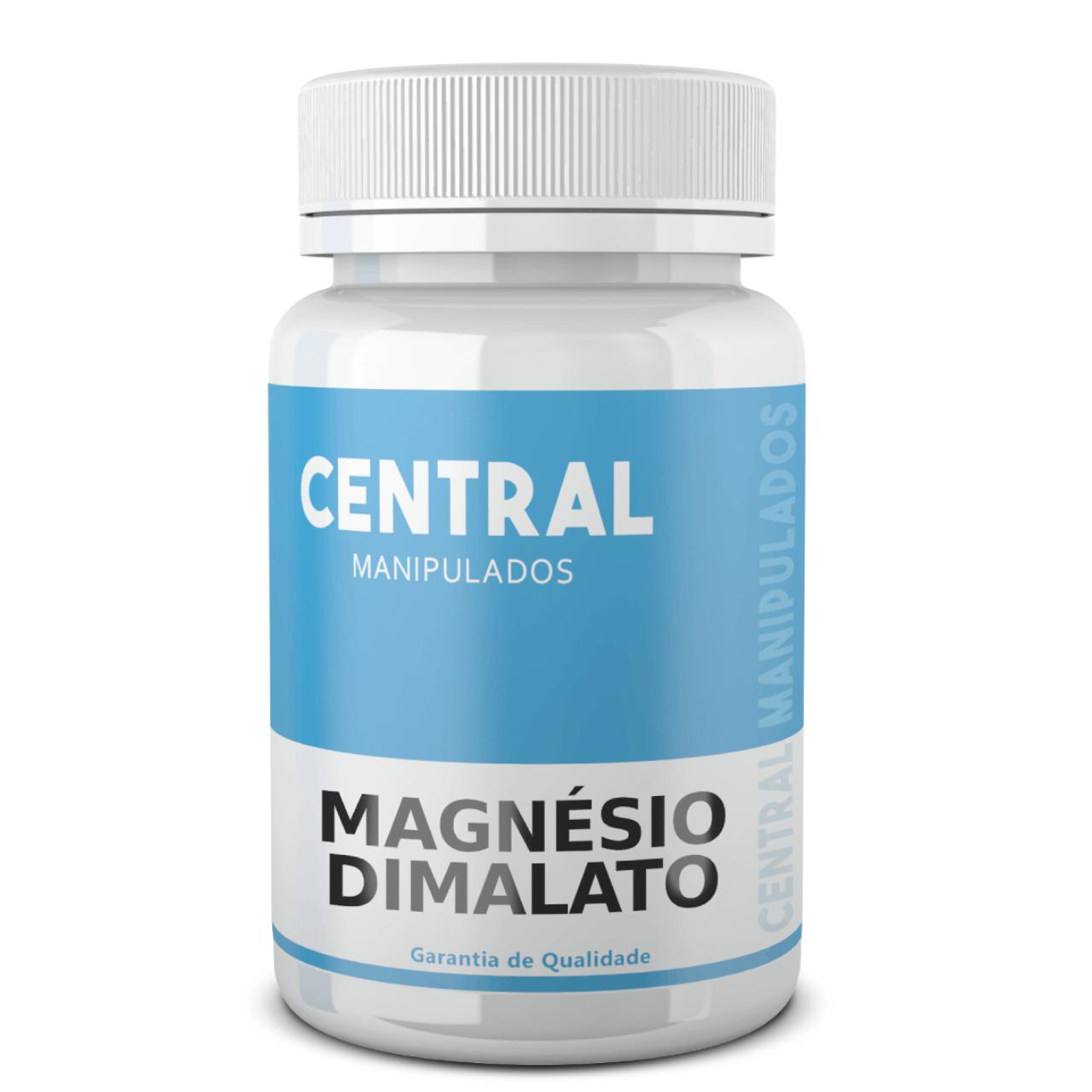 Magnésio dimalato 500mg - 60 cápsulas - Melhora fraqueza muscular, dores e espasmos, rápida recuperação muscular, Coadjuvante na fibromialgia