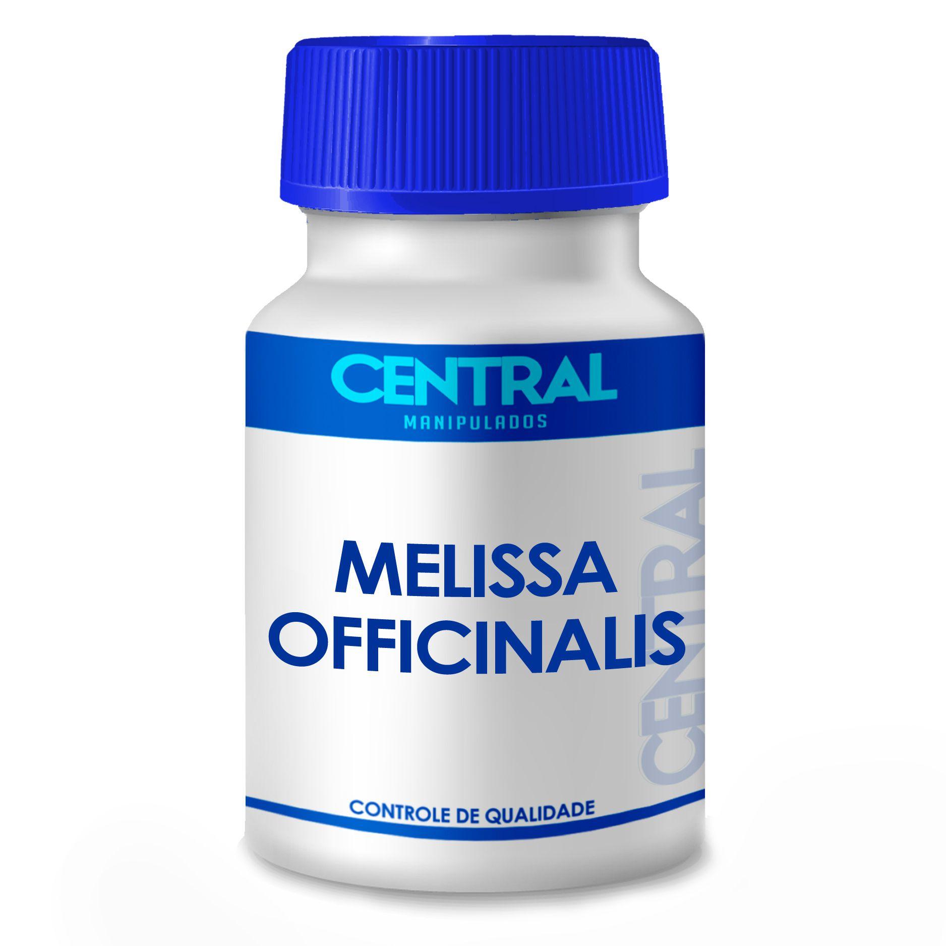 Melissa officinalis - Auxilia no tratamento do nervosismo, agitação e distúrbios do sono - 500mg 30 cápsulas