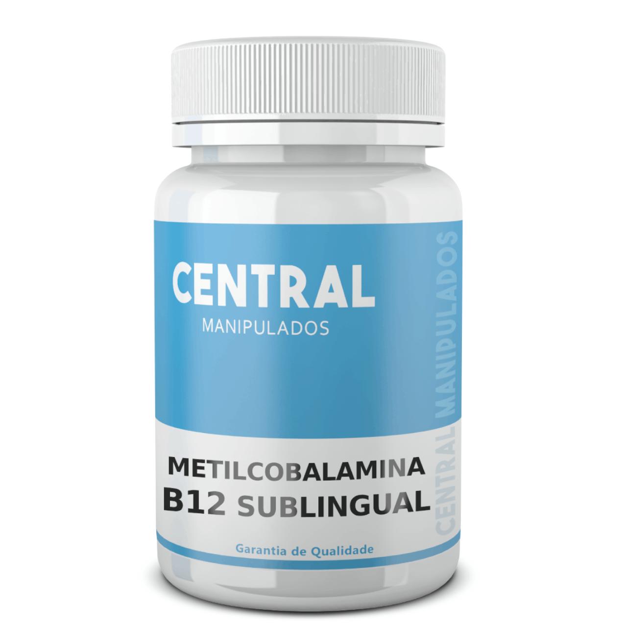 Metilcobalamina 1.500mcg - 120 cápsulas - Vitamina B12 - Sublingual (Tapiocaps)