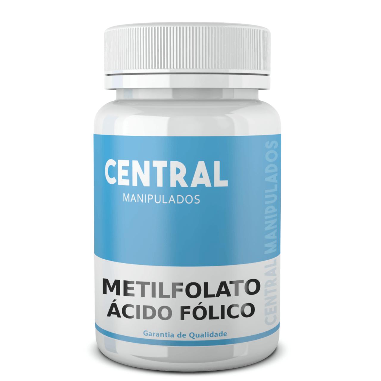 Metilfolato 500 mcg - 120 cápsulas - FORMA ATIVO DO ÁCIDO FÓLICO